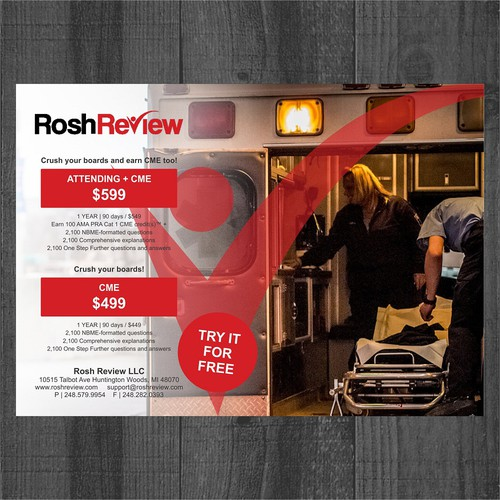Rosh Review LLC flyer