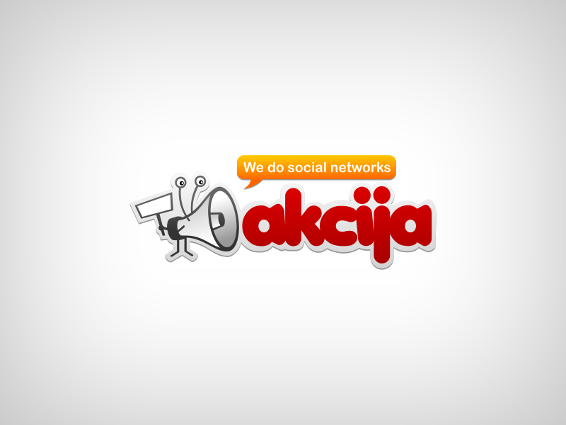 Cool logo for AKCIJA - social media company