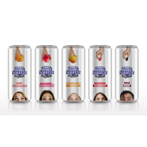 Crystal Geyser's Juice Squeeze Can Design Project 2013