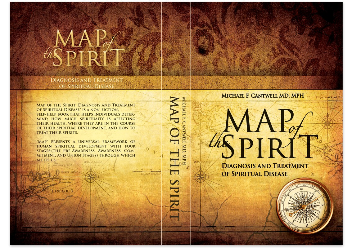 Book Cover Design- Map of the Spirit
