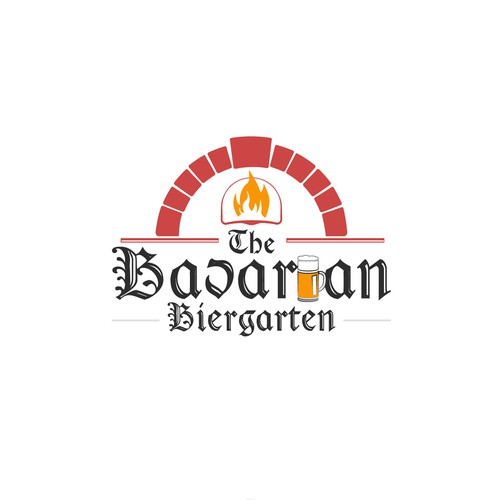 Logo for beer and pizza place