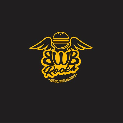 BWB rocks logo design