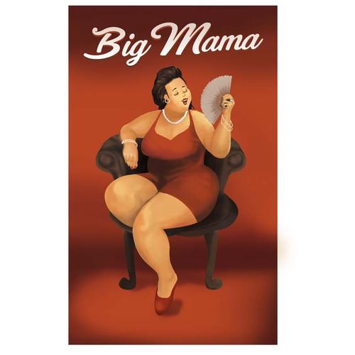 big mama wine lable