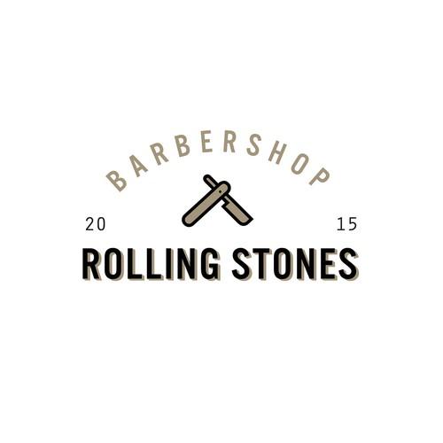 Rolling stones Barbershop Logo
