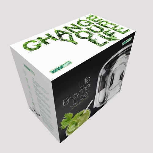 packaging design for manual juicer