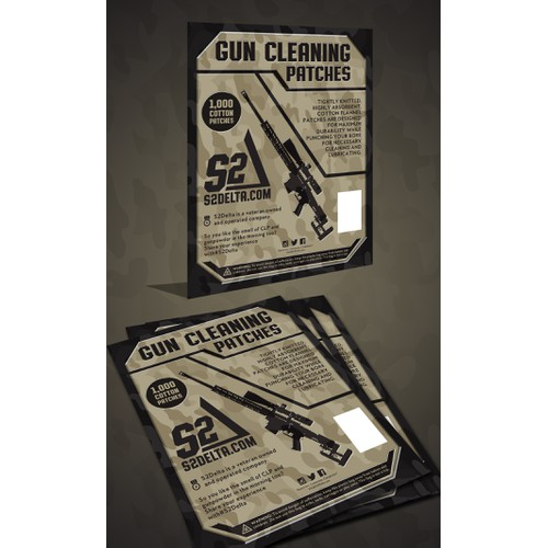 gun cleaning package packing design