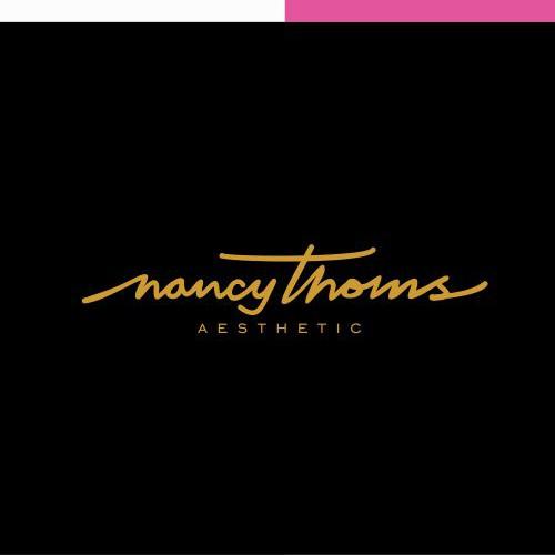 Nancy thomas aesthetic logo design
