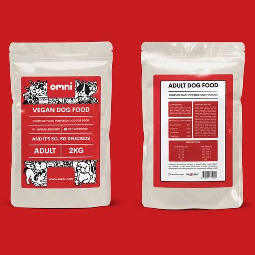 Vegan Dog Food Packaging Design