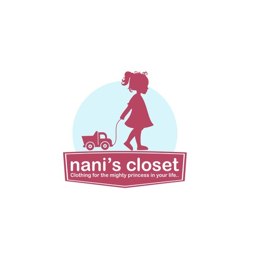 Create a logo and website for a Childrens clothing company with a difference