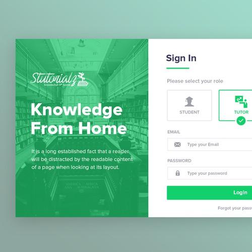 Login/Register Form