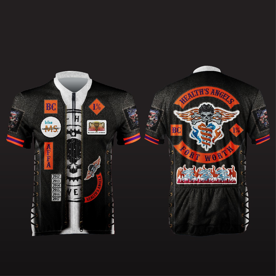 Help design an intimidating Hell's Angels style Cycling Jersey!
