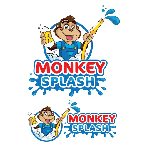 monkey splash car washi