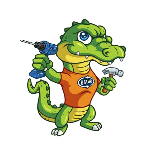 Gator logo for a new construction company