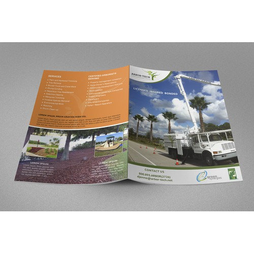 Help Arbor-Tech Environmental Group with a new brochure design