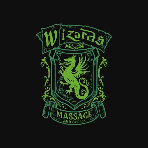 Wizzard massages logo