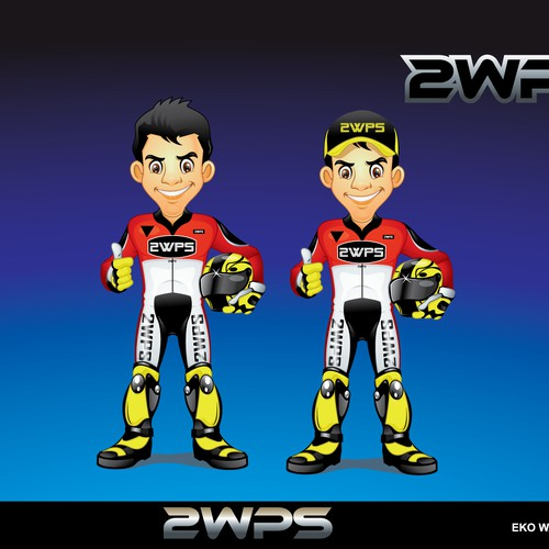 Motorcycle Rider Character (Company Mascot)