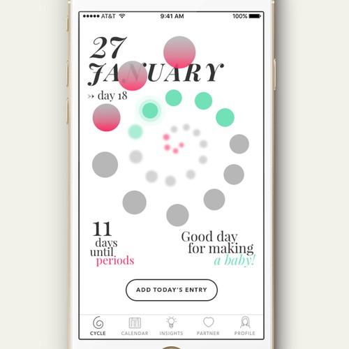 Crazy concept for a periods app
