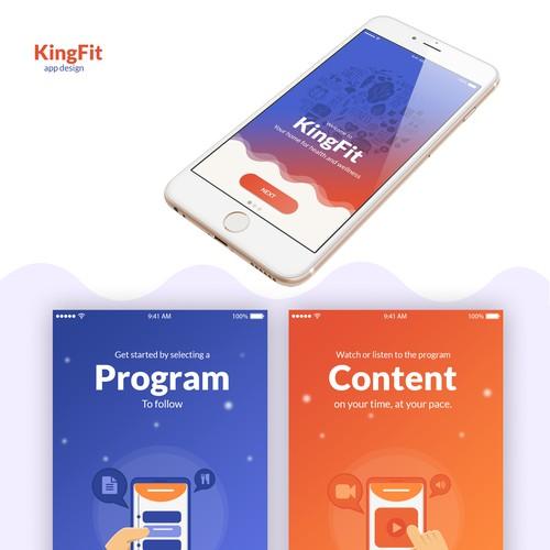App Design for KingFit
