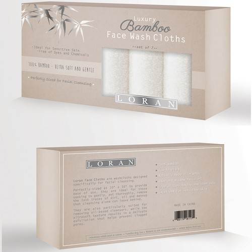 Package design for Bamboo Face Washcloths