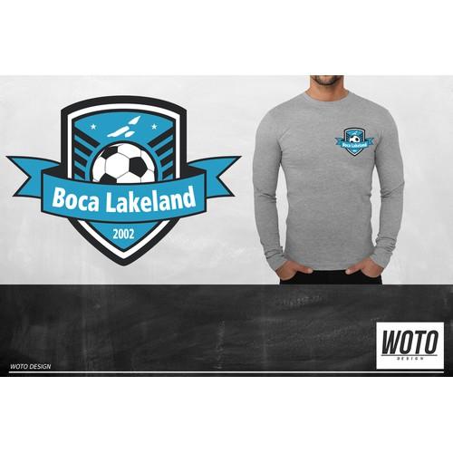 Boca Lakeland Soccer Team Logo
