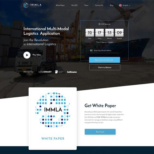 Blockchain Startup Webdesign