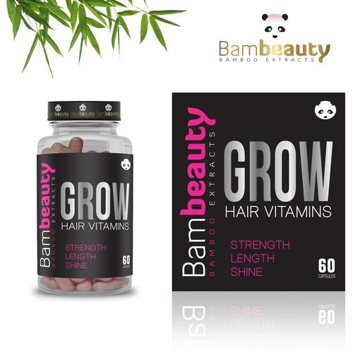 Label for Hair Vitamin