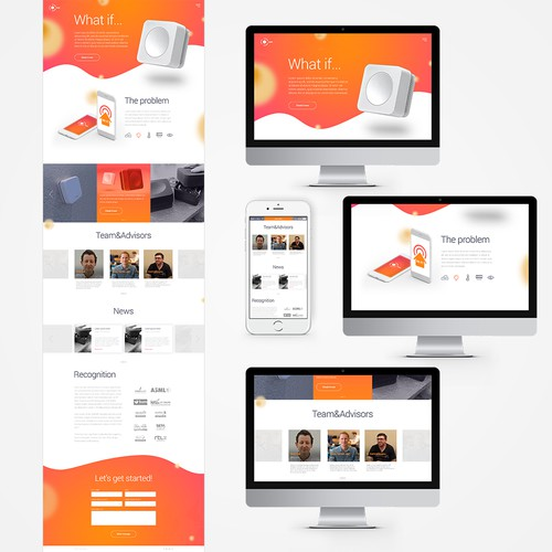 Websote concept for technology company