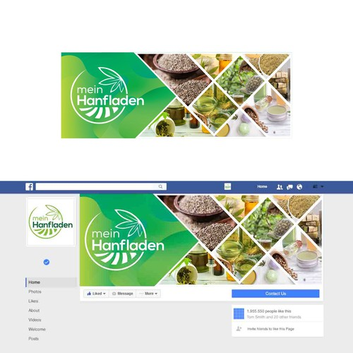 Facebook-Cover für meinhanfladen.de