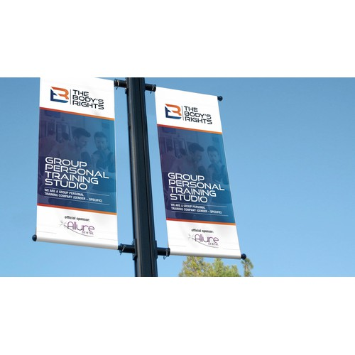 An attractive, high-energy, roll - up banner