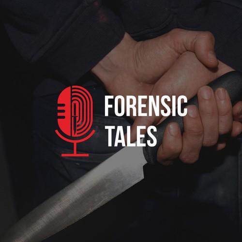 Logo for crime podcast
