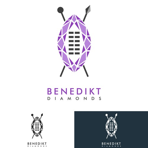Marquise cut Diamond mixed with Nguni Shield for Benedikt Diamonds