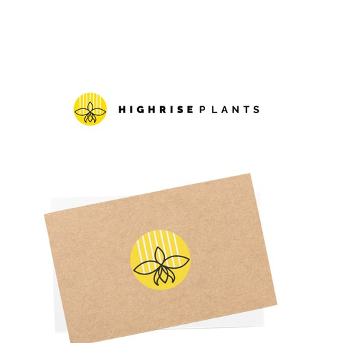 Logo concept for home plant business