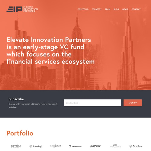 Elevate Innovation Partners | Website for VC fund