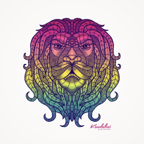 Mystic Psychedelic Lion