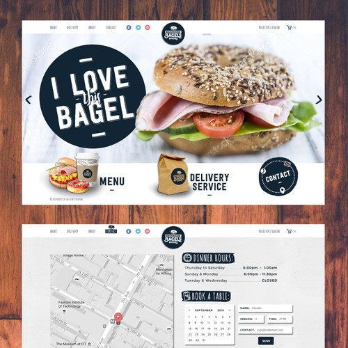 exciting website for bagel shop