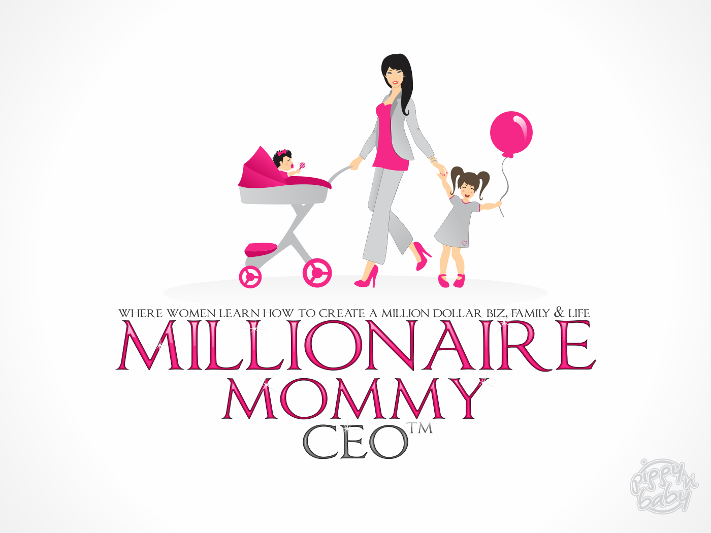 Millionaire Mommy CEO (TM) (the TM is just the trademark symbol) needs a new logo