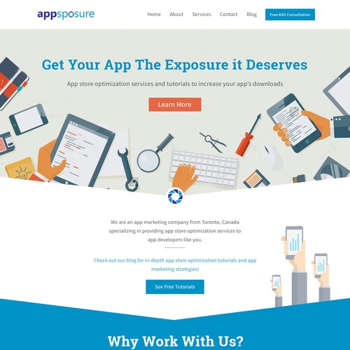 Landing Page for Appsposure