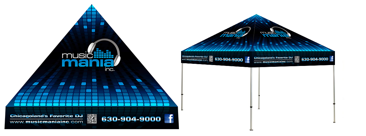 Help Music Mania Inc. create an awesome tent design!