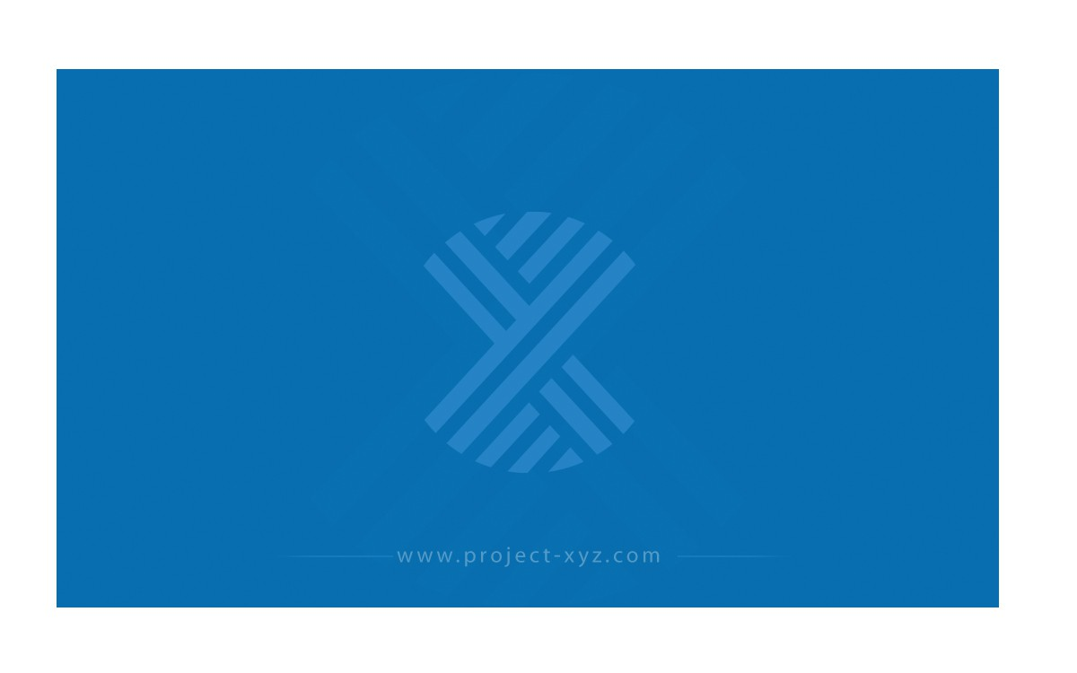 Project XYZ - business card for start-up asset manager