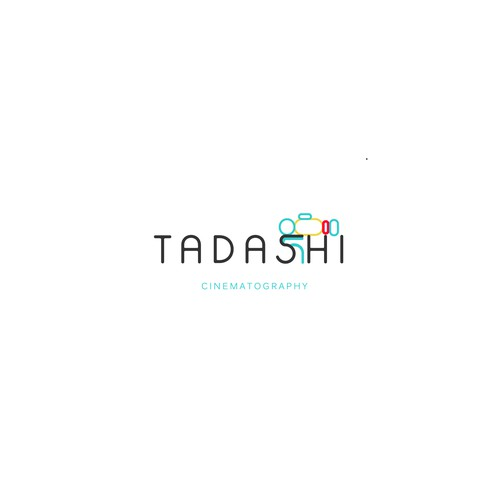 A modern, cute, and clean logo for Tadashi Cinematography
