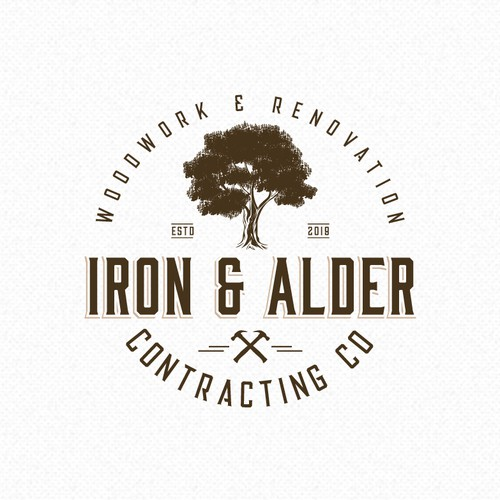 Vintage, classic logo for rustic construction company