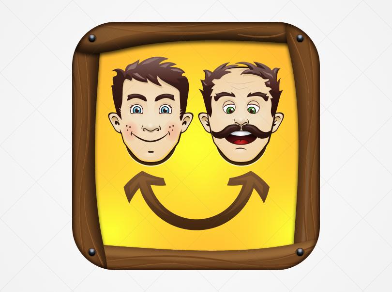 icon or button design for Face Shuffler