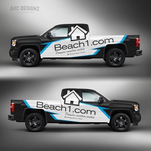 Truck wrap for beach1.com