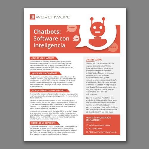 Chatbots Marketing Leaflet