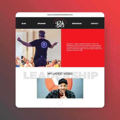 Website design for a professional speaker