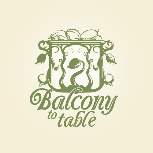 interpretation of Balcony to Table for a blog and line of gardening products