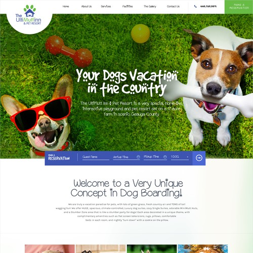 One Page Liquid Design for an Activity Based, Luxury Dog Care