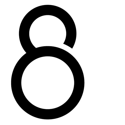 "Logo for ""8"". Established business in Asia."