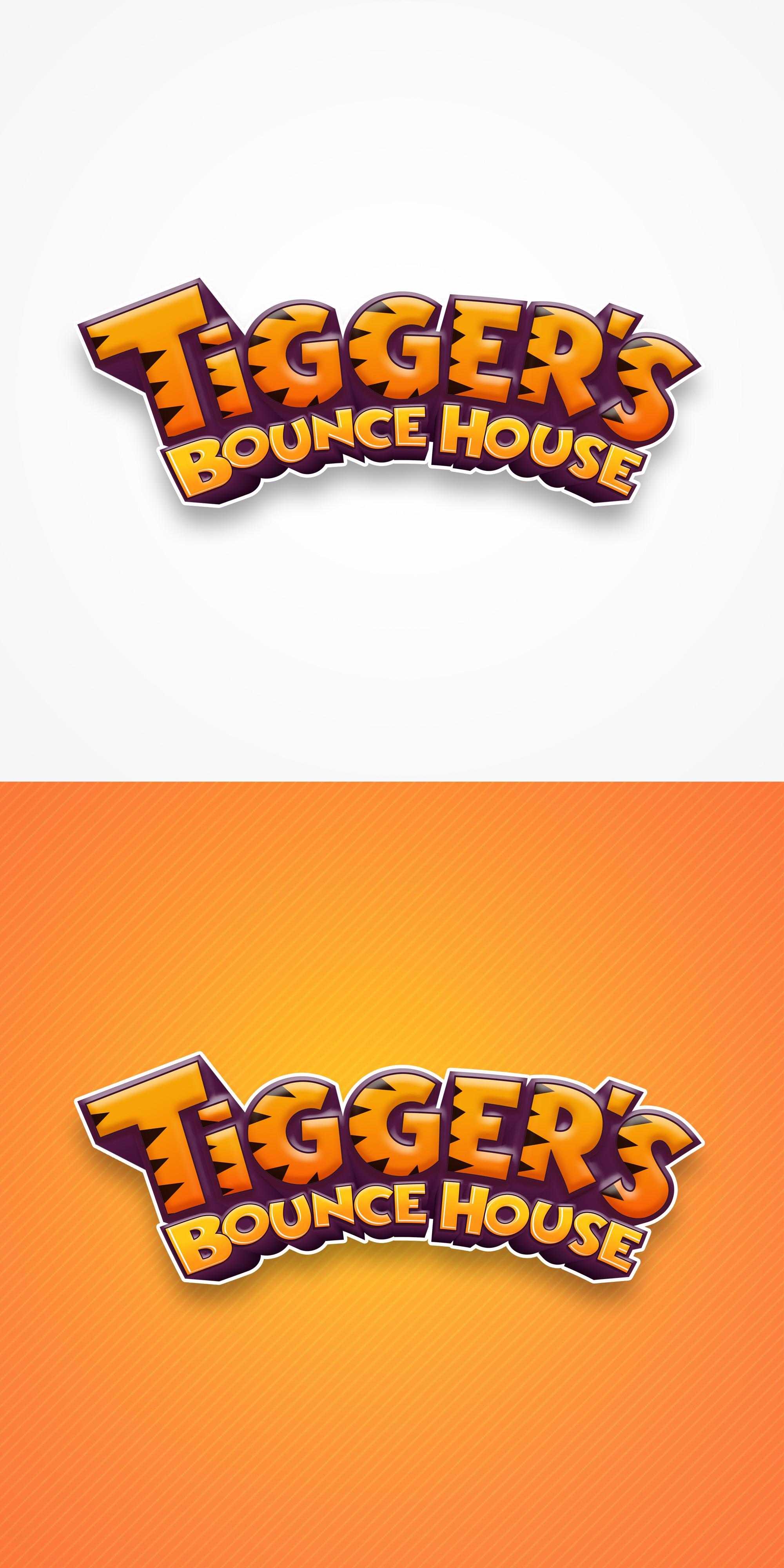 Design a FUN logo for Tigger's Bounce House