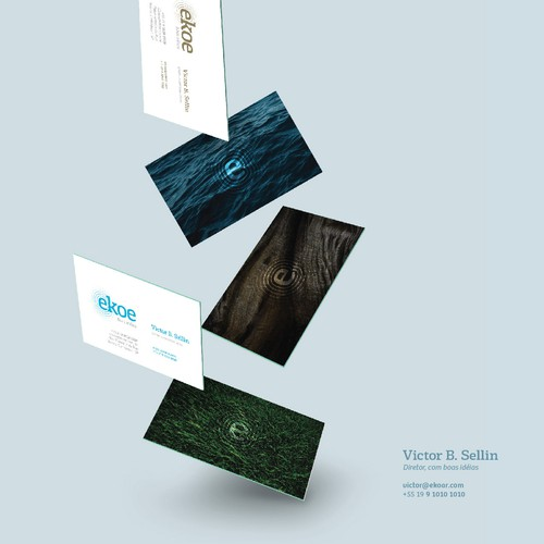 Logo, Visual identity and Business card for a environmental services company